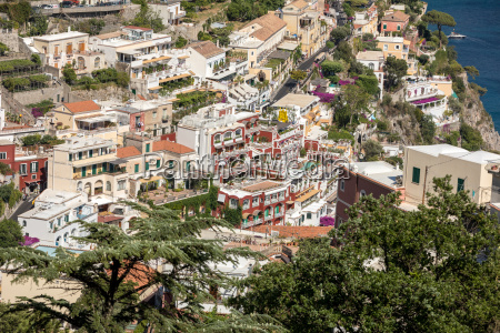 small town of positano along amalfi