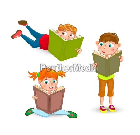 children read the book with interest