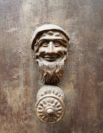 old door with handles made by