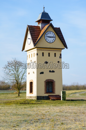 clock tower in one of the
