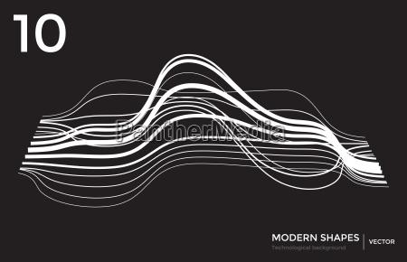 vector modern shape technological background