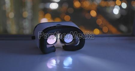 virtual reality device playing inside