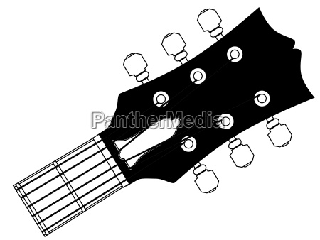 guitar headstock outline drawing