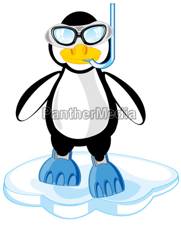 cartoon of the penguin in mask