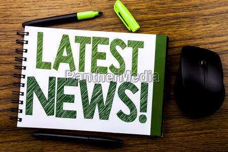 handwriting announcement text showing latest news