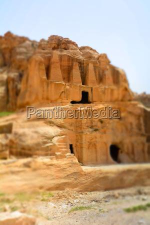 mountains of petra jordan middle east