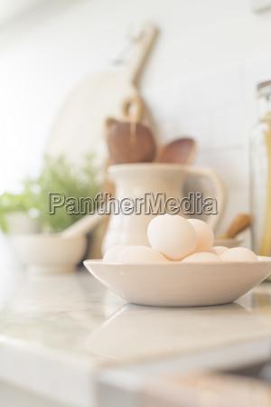 still life eggs in bowl on
