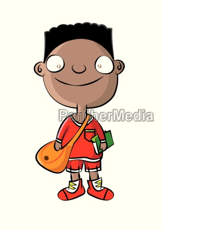 cute black school boy