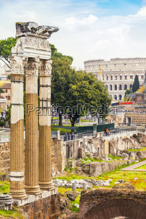 italy rome view to imperial forums