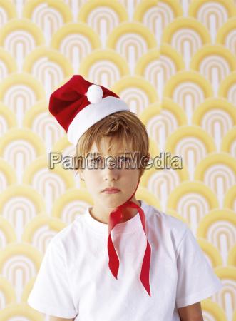 portrait of boy in bad mood