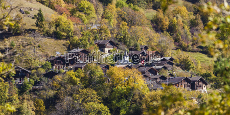switzerland valais tschingeren houses in mountain