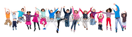kids jumping isolated