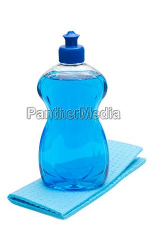 dishwashing detergent with rag
