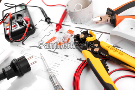 electrical tools and equipment on house