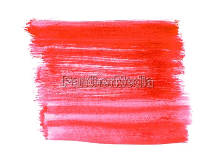 brushstrip with red color