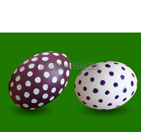 two dotted easter eggs