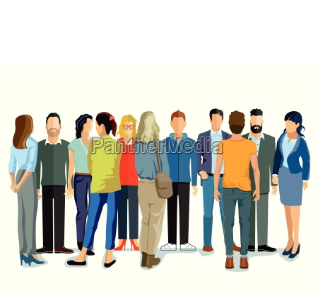 person group of young peopleillustration