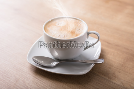 elevated view of hot coffee
