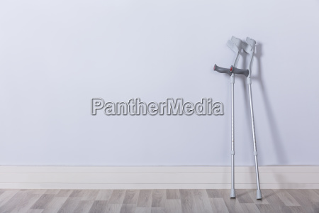 two crutches in room