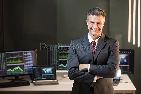 portrait of a male stock market