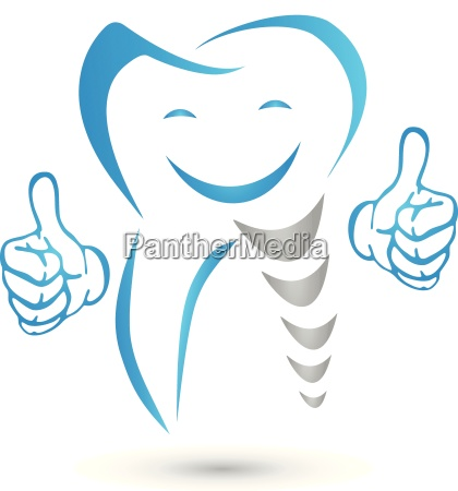dental implant tooth implant dentistry logo