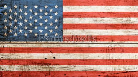 old vintage american us flag over