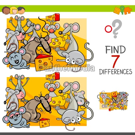 find differences with mice animal characters