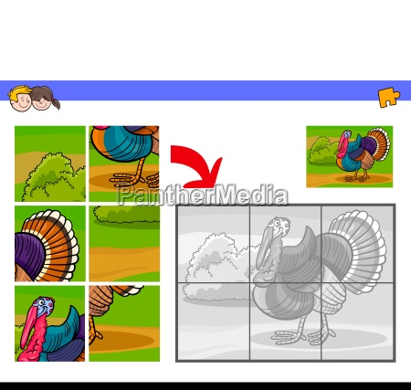 jigsaw puzzles with turkey animal character