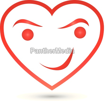 heart and smile heart smile button