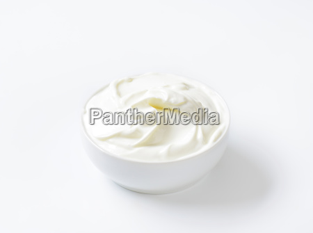bowl of white cream