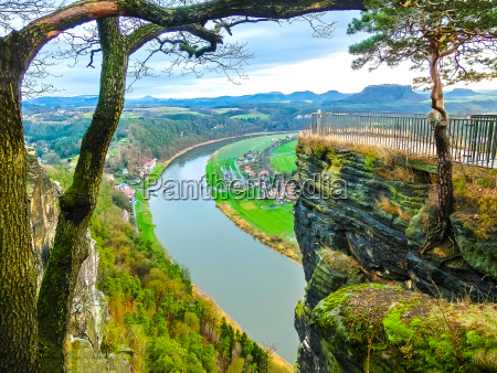 view from viewpoint of bastei in
