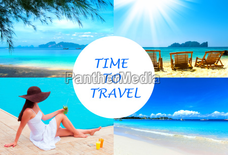 the holiday time summer beach travel