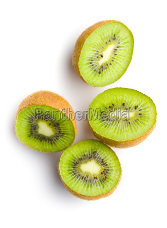 halved kiwi fruit