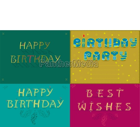 greeting cards with text happy birthday