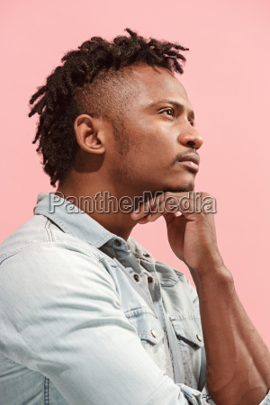 young serious thoughtful afro american businessman