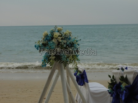 wedding on the sandy beach of