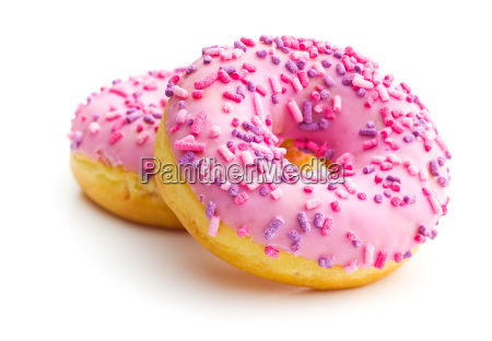 pink sweet donuts