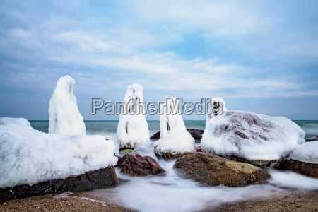 winter on the coast of the