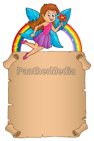 parchment with happy fairy theme 2