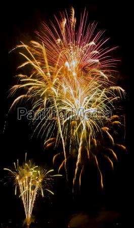 fireworks display night in london