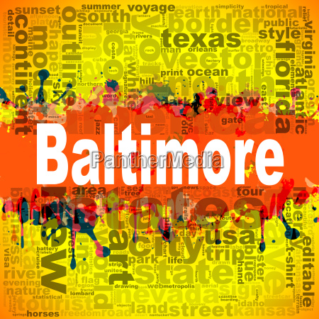 baltimore word cloud design