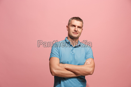 young serious thoughtful businessman doubt concept