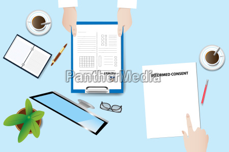 medical examination concept vector