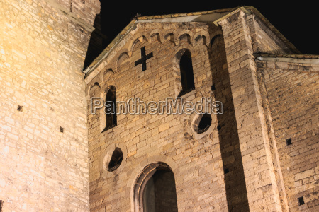 architecture detail of the romanesque basilica