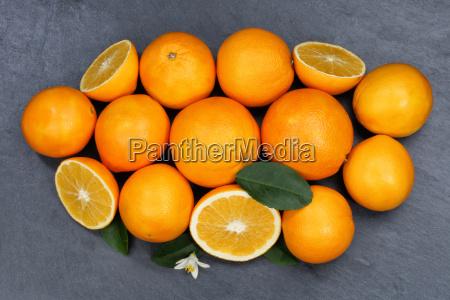 orange orange fruit fruit slate plate
