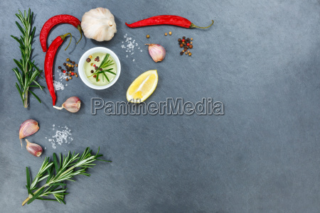cooking ingredients herbal basil spices text