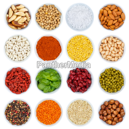 herbs and spices vegetable collection nuts