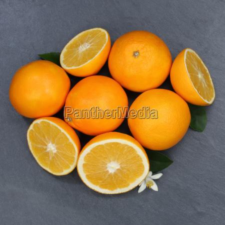 orange orange fruit fruit square slate