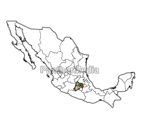 mexico state on administration map of