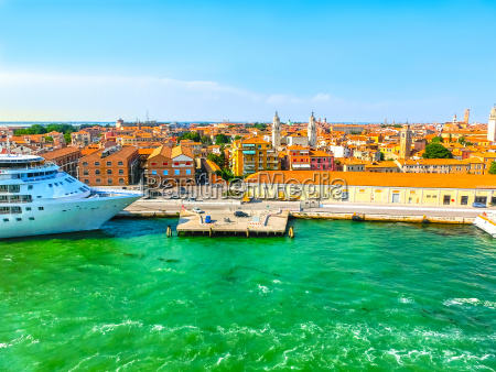venice italy abstract cruise liner